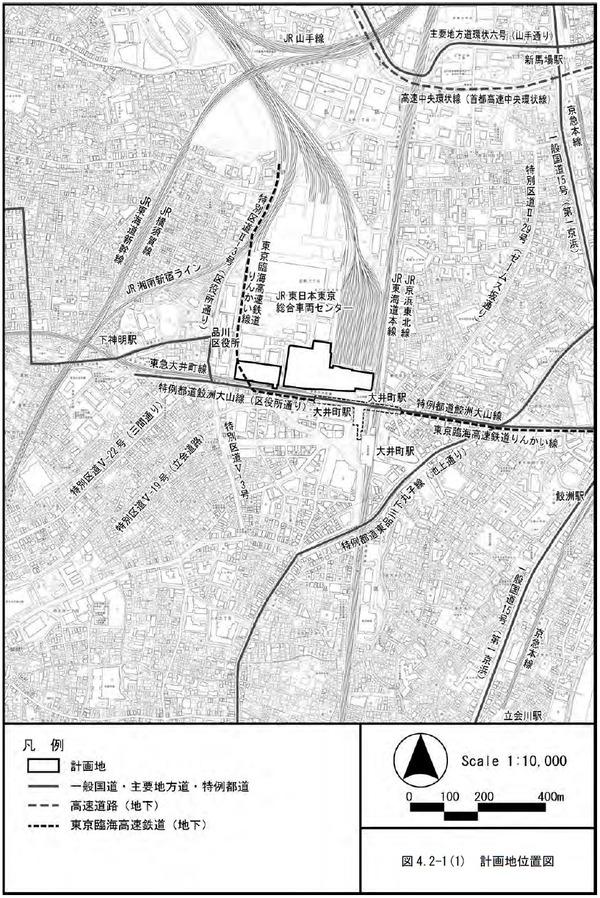 大井町駅周辺広町地区開発 計画地位置図