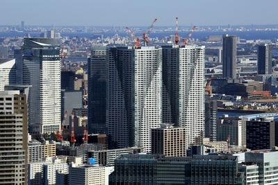 東京タワーから見た勝どき ザ・タワー(KACHIDOKI THE TOWER)