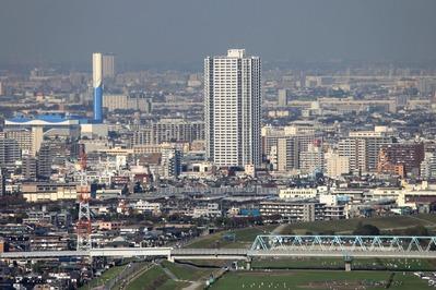 市川市アイ・リンクタウン展望室からの眺め