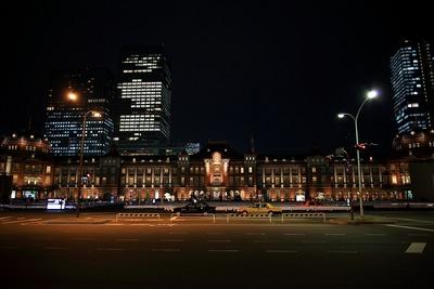 東京駅丸の内駅舎の夜景