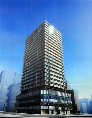 プレミアムタワー静岡の完成予想図