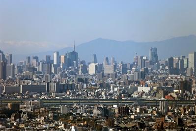 市川市アイ・リンクタウン展望室から東京タワー