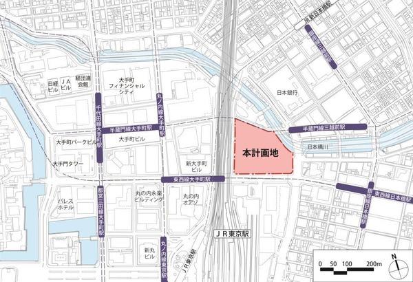 TOKYO TORCH 位置図