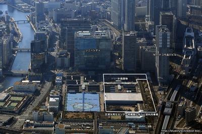 (仮称)芝浦水再生センター再構築に伴う上部利用事業の空撮