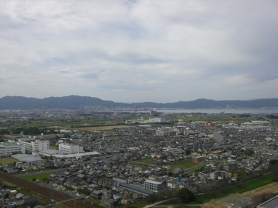 リーデンスタワー草津から琵琶湖方面の眺め