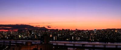 東京パノラマ夕景