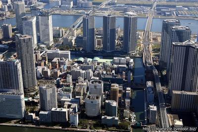 勝どき東地区第一種市街地再開発事業の空撮