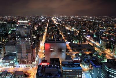 JRタワーから北口方面の夜景