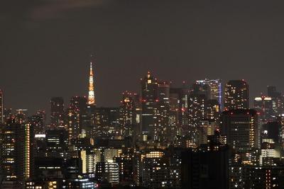 東京タワー 夏バージョンのライトアップ