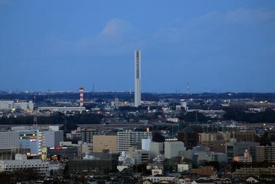 茨城県庁舎から見たG1TOWER