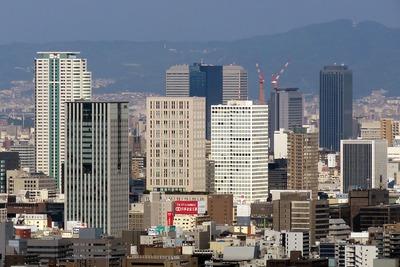 ホテル大阪ベイタワーから見たOBP方面