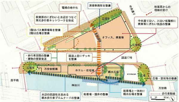 外神田一丁目1・2・3番地区第一種市街地再開発事業 配置図