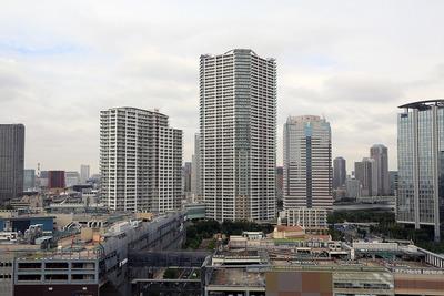 豊洲シビックセンターからの眺め