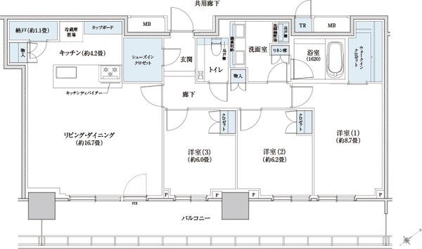 ブリリアタワー浜離宮 100A Type