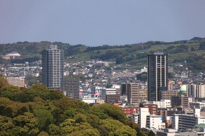 静岡県庁別館から東静岡駅前のタワーマンション