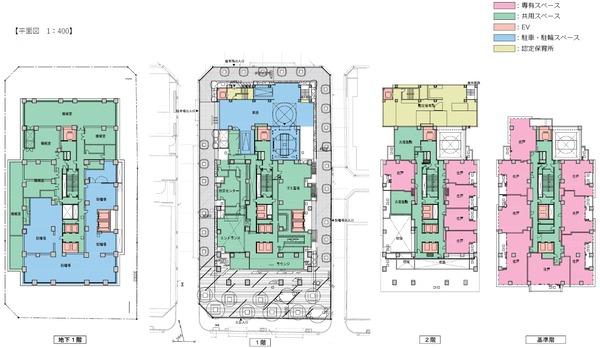 (仮称)新宿区四谷4丁目計画 平面図