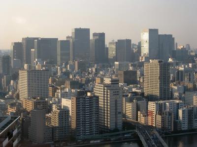 月島から東京駅方面