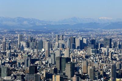 東京スカイツリーから見た新宿