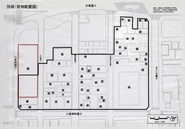 東京駅前八重洲一丁目東B地区第一種市街地再開発事業 建物配置図