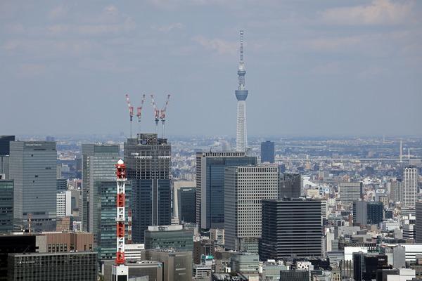 東京スカイツリーと東京ミッドタウン八重洲