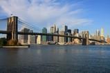 ブルックリンブリッジとニューヨークの摩天楼