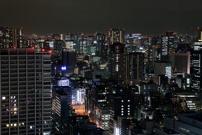 世界貿易センタービルから見た田町方面の夜景