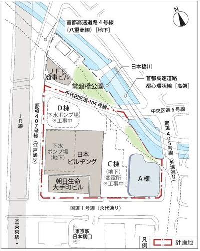 東京駅前常盤橋プロジェクト 配置図