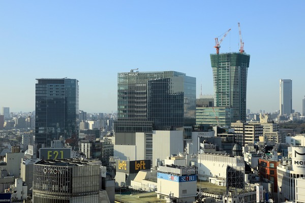 渋谷スカイのチケットカウンターフロアからの眺め
