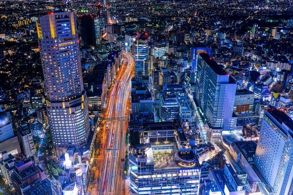 渋谷スカイから見た渋谷の夜景