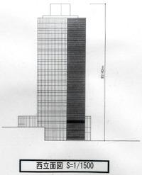 (仮称)麹町五丁目計画 西立面図