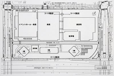 (仮称)有明北3-1地区(3-1-A街区)計画 配置図