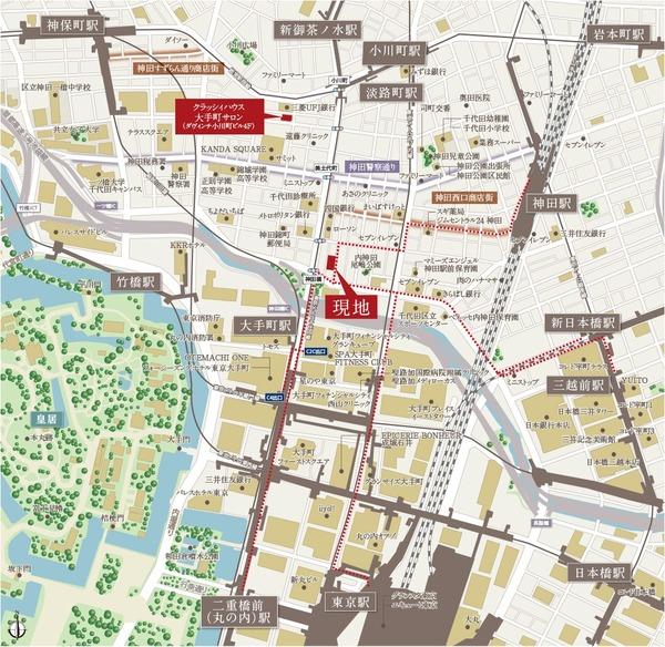 クラッシィハウス大手町 位置図