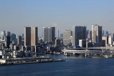 ホテル グランパシフィック LE DAIBAから見た芝浦のマンション群