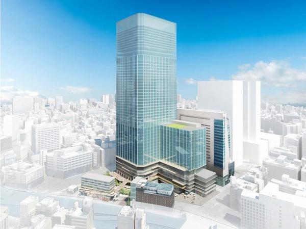 (仮称)日本橋一丁目中地区再開発計画 完成予想図