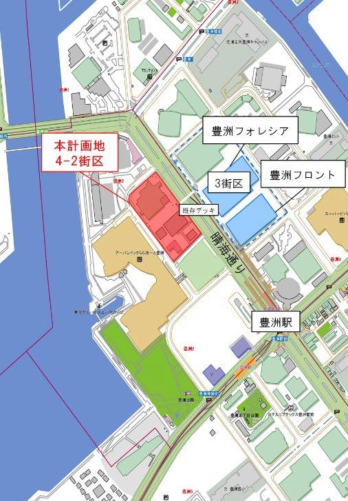 (仮称)豊洲4-2街区開発計画 周辺地図