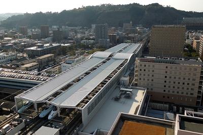 アミュランから見た鹿児島中央駅