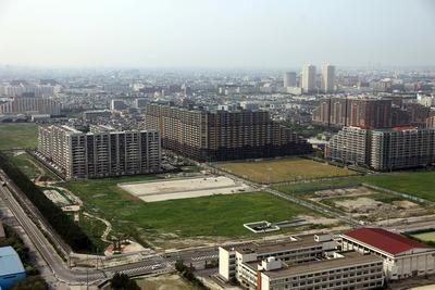 新浦安のマンション群の空撮