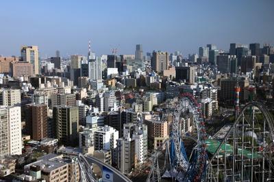 文京シビックセンターから見た御茶ノ水・大手町方面の超高層ビル群