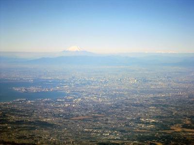 空撮 東京と富士山