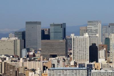 江戸川区から見た東京駅周辺の超高層ビル群