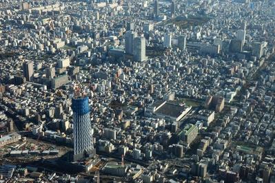 空撮 東京スカイツリーと錦糸町