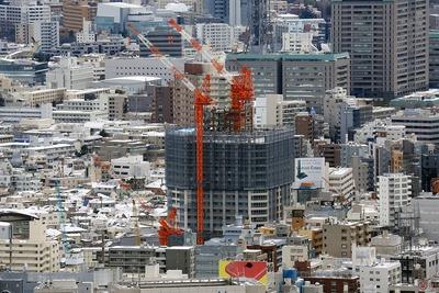 東京都庁から見た富久クロス(Tomihisa Cross)