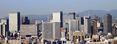 船堀駅前トキタワーから丸の内・大手町方面の眺め