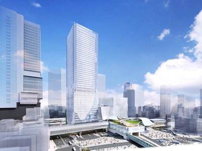 渋谷駅地区駅街区開発計画 完成予想図
