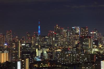 青色東京タワー