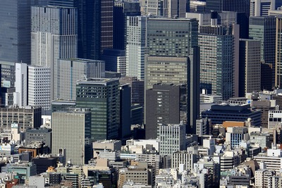東京スカイツリーから見た日本橋室町・日本橋本町