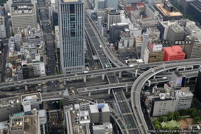 ブランズタワー御堂筋本町の建設地の空撮