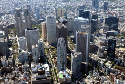 空撮 新宿超高層ビル群