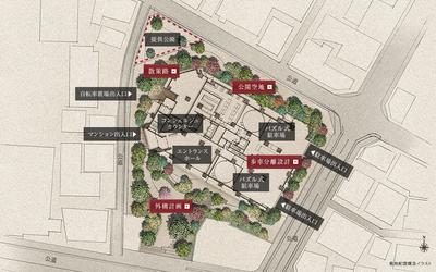 シティタワー恵比寿 敷地配置図