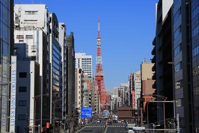 辻の札から見た東京タワー